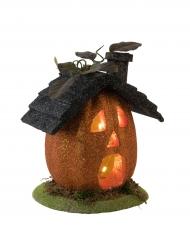 Casa zucca luminosa halloween 23 cm