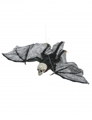 Pipistrello volante con testa a forma di teschio