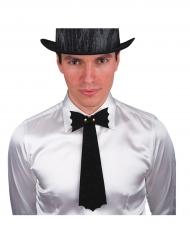 Cravatta nera pipistrello halloween uomo