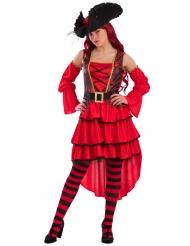 Costume corsaro rosso donna
