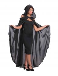 Mantello nero con cappuccio per halloween