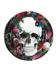 8 piatti in cartone festa Dia de los muertos
