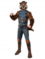 Costume con maschera Rocket Raccoon™ I guardiani della galassia 2™ per adulto