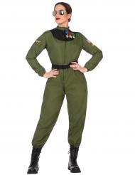 Costume da aviatrice per donna