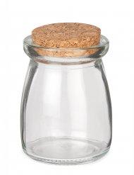 Barattolo in vetro con tappo in sughero 8 cm