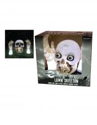 Decorazioni luminose e sonore scheletro Halloween