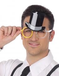 Occhiali con cappello a cilindro per adulto