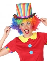 Cappello a cilindro multicolore per adulto
