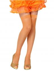 Image of Autoreggenti a rete arancione donna