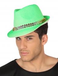 Cappello Borsalino verde con punte per adulto