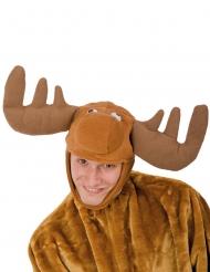 Cappello peluche da renna per adulto Natale