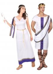Costume da Coppia romani in viola