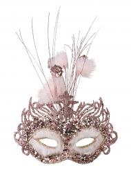 Maschera venezia rosa per donna