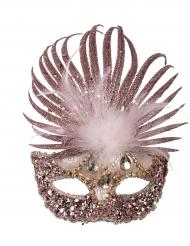 Maschera veneziana deluxe con piume per donna