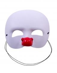 Maschera bianca pagliaccio per bambino.