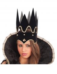 Corona da regina nera adulto