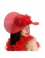 Cappello elegante rosso con brillantini