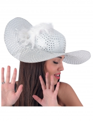Cappello elegante bianco per donna
