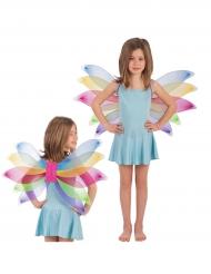 Ali da farfalla arcobaleno da bambina