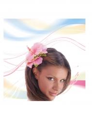 Fiore rosa capelli per adulto