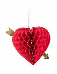 Decorazione da appendere cuore a nido d