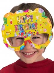 6 maschere in cartone Happy Birthday !