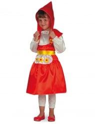 Costume cappuccetto rosso con fiori per bambina