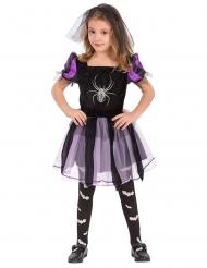 Costume da strega con ragno bambina