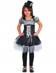 Costume strega dia de los muertos bambina