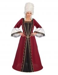 Costume barocco bordeaux donna
