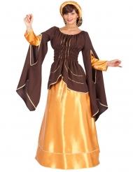 Costume da imperatrice marrone e dorato donna