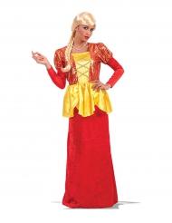 Costume da imperatrice rosso e dorato donna