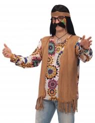 Costume da hippie marrone per uomo