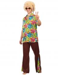 Costume Hippy floreale da uomo