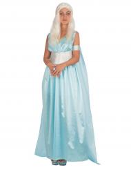 Costume principessa dei draghi azzurro per donna