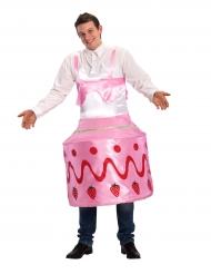 Costume da torta di fragole per adulto