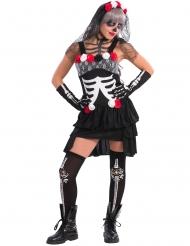Costume da scheletro sexy Día de los muertos per donna