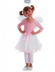 Kit ali farfalla rosa e bianco