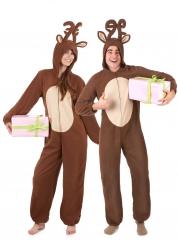 Costume coppia di renne di natale adulto