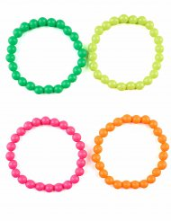 4 braccialletti multicolore per adulto