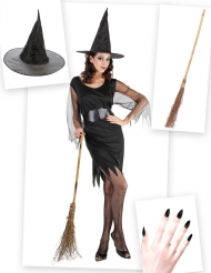 Set costume e accessori Strega per donna Halloween