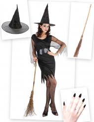 Set costume e accessori Strega per donna Halloween