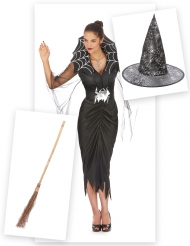 Set costume e accessori Strega ragnoper donna
