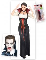 Set costume da vampiro per donna Halloween