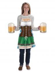 Grembiule bavarese lungo Oktoberfest per donna