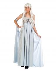 Costume da principessa azzuro argentato per donna