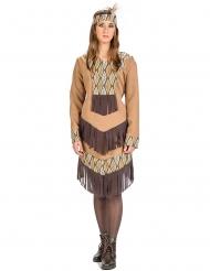 Costume da indiana con foglie donna