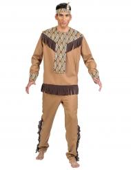 Costume da indiano con foglie per uomo