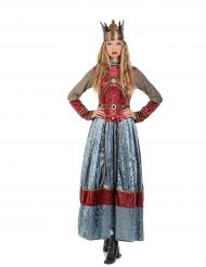 Costume da regina medievale lusso per donna