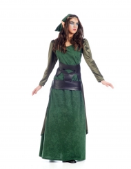 Costume elfo medievale donna